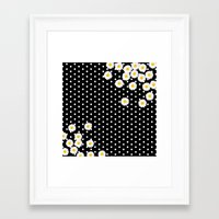 daisy Framed Art Prints featuring DAISY by Monika Strigel