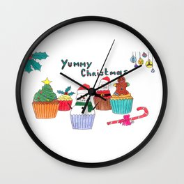Yummy christmas Wall Clock
