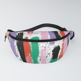 Bright Stripes- Abstract, Colourful, Brushstrokes, Stripey pattern Fanny Pack