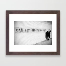 Can You See The Future? Framed Art Print