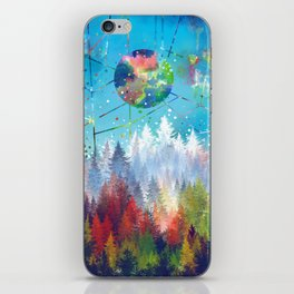 colorful forest 3 iPhone Skin