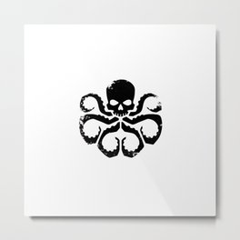 Octoskull Metal Print