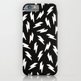 Thunderbolt black and white iPhone Case