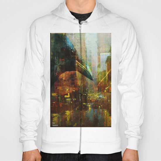 Crow in the geometrical city Hoody