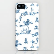 Blue Toile Unicorn Slim Case iPhone (5, 5s)