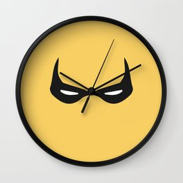 Iron First Mask Wall Clock