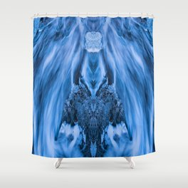 Flowing face Shower Curtain