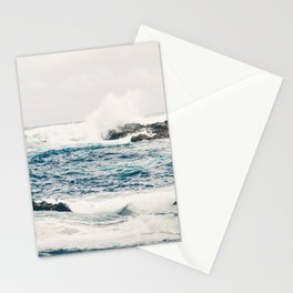 Rough Waters on the Coast of Maui Stationery Cards
