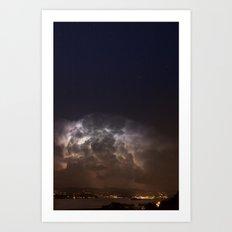 Radiating Storm Art Print