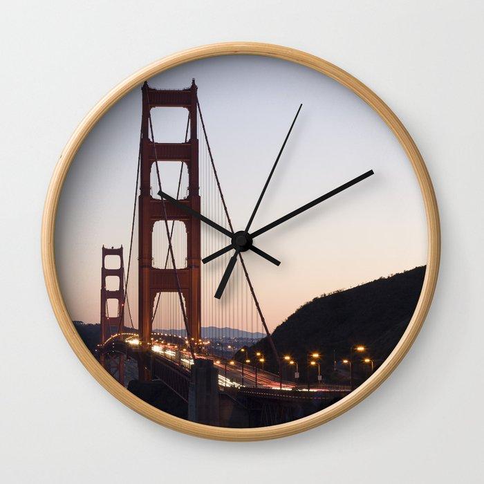 Golden Gate Bridge at Twilight Wall Clock