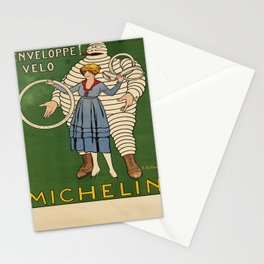 retro michelin. two posters Stationery Cards