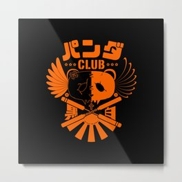 Panda Club Logo Design (Orange) Metal Print