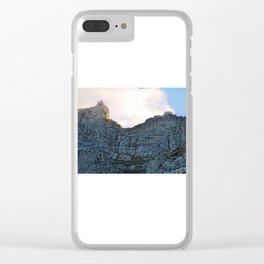 Table mountain a natural wonder Clear iPhone Case