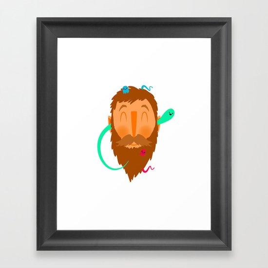 Ghost Beard Framed Art Print