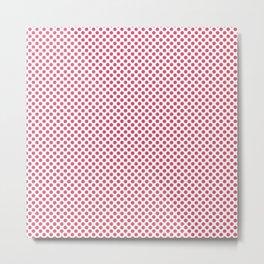 Honeysuckle Polka Dots Metal Print