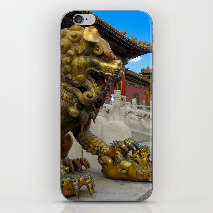 Mother Lion. Beijing Forbidden Palace. iPhone Skin