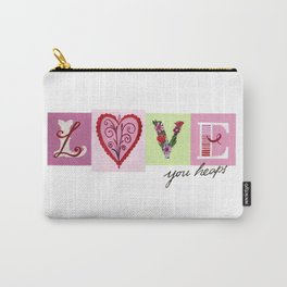 LOVE letters - LOVE you heaps Carry-All Pouch