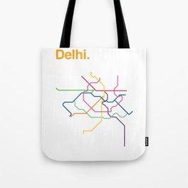 Dehli Transit Map Tote Bag