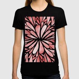 Symmetric drops - red T-shirt