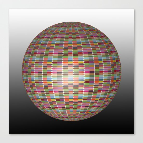 Colorful 3D Ball Canvas Print