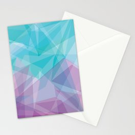 Stained Glass - Blue Purple Stationery Cards