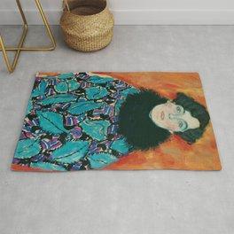 """Gustav Klimt """"Johanna Perennial"""" Rug"""