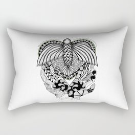 This goodbye is not forever Sympathy  - Zentangle Illustration Rectangular Pillow