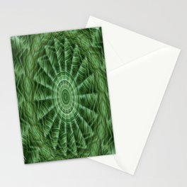 Green Stripes Kaleidoscope 8 Stationery Cards