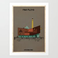 floyd Art Prints featuring Pink Floyd by federico babina