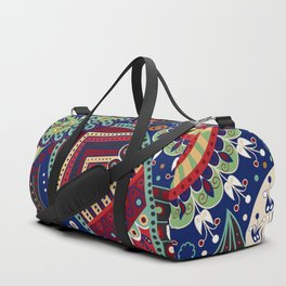 Colorful khohloma pattern Duffle Bag
