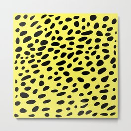 Yelow Cheetah Metal Print