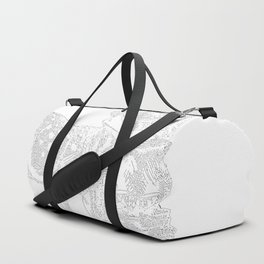 Alice and the Fawn in White with Transparent Background Duffle Bag
