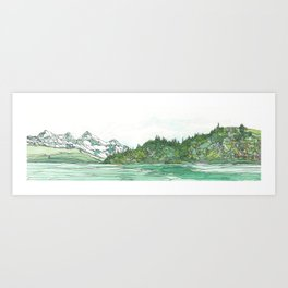 Glacier Bay Panoramic Art Print