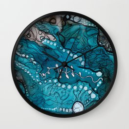Jupiter Lineage Ink Botanical Wall Clock