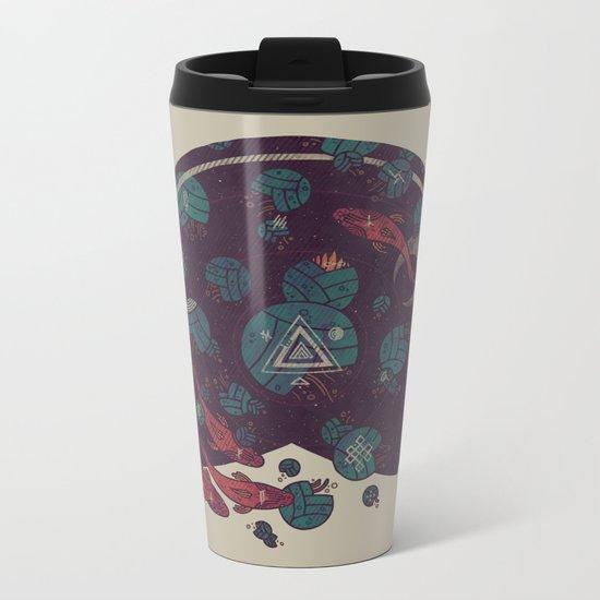 Amongst the Lilypads Metal Travel Mug