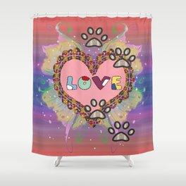 Huellas de amor Shower Curtain