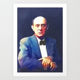 Arnold Schoenberg, Music Legend Art Print