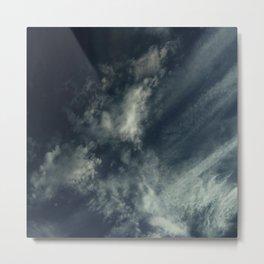 Cloud and sky 9 -cloud, sky, blue, positive,optimism Metal Print