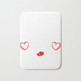 I Hate Valentines Day Hearts Romance Valentinus Cupids Dating Lovers Gift Bath Mat
