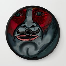 Poirot in color Wall Clock