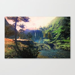 A river rest Canvas Print