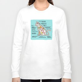 Cat Anatomy in Color Long Sleeve T-shirt