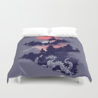 budi Duvet Covers featuring Samurai's life by Picomodi