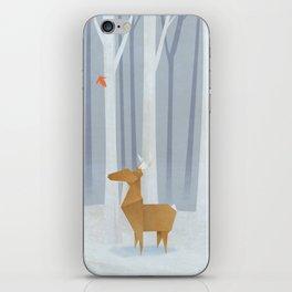 Origami deer in the Woods iPhone Skin