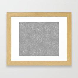 Peony Flower Pattern II Framed Art Print