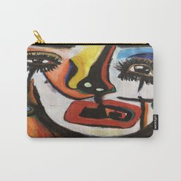 Lady Bewilderment, abstract portrait Carry-All Pouch