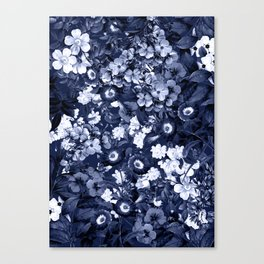 Bohemian Floral Nights in Navy Canvas Print