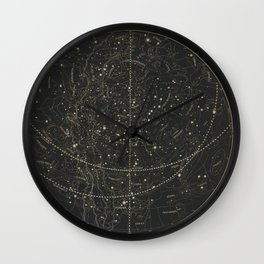 Vintage Astronomical & Celestial Map (1850) Wall Clock