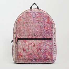 Pink Vintage Antique Oriental Traditional Moroccan Original Artwork Backpack