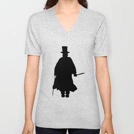 Jack the Ripper Silhouette Unisex V-Neck